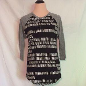Grey and Black Lularoe Randy Shirt